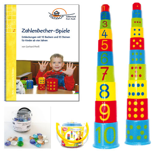 Number Tower Stacking Cups